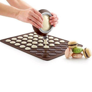 Silicone Macaron Macaroon Pastry Oven Baking Mould Sheet Mat DIY Mold 48 Cavity