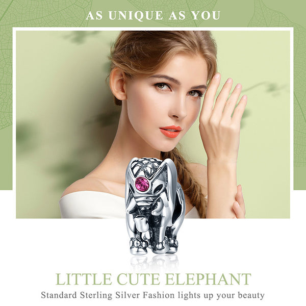 Pandora compatible New Trendy Real 925 Sterling Silver Thailand Lucky Elephant Charms  Bracelets Jewelry Gift
