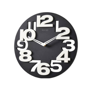 Novelty Hollow-out 3D Big Digits Kitchen Home Office Decor Round Shaped Wall Clock Art Clock