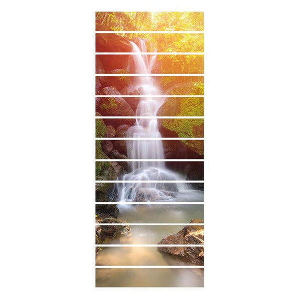 Sunshine Waterfall 3D Stair Wall Stickers
