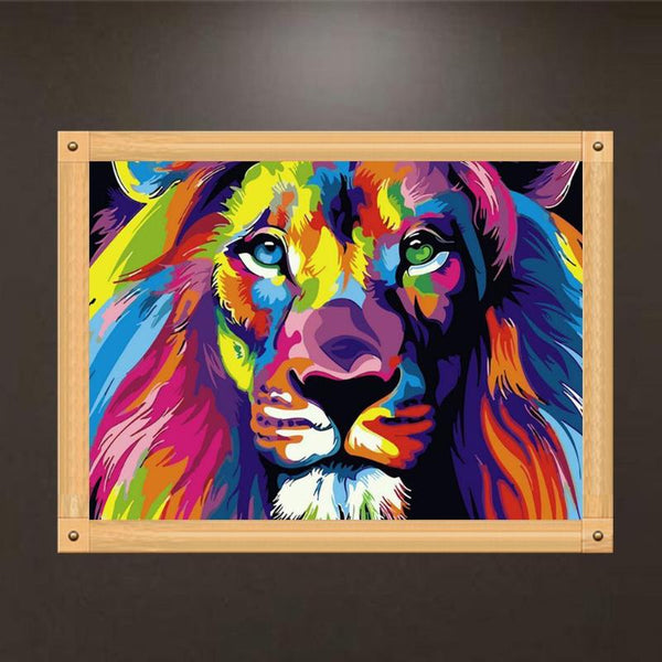 Oil Painting Lion Picture