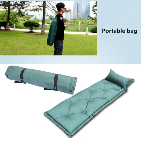 Self Inflating Camping Roll Mat/Pad Sleeping Bed  with pillow
