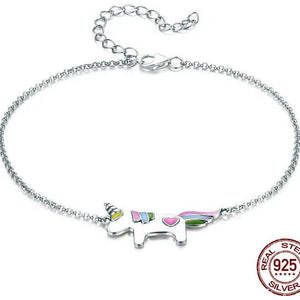 925 Sterling Silver Unicorn Bracelet