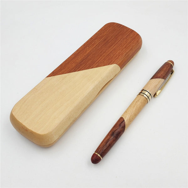 Signing Pen Set Joint Roseood Ball-point Pen with Wooden Box Office School Stationary Supplies