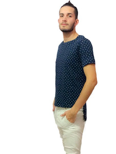 Mens Cotton Shirt - Acqua Azul