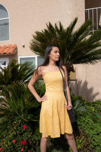 Skater Yellow Dress - Acqua Azul