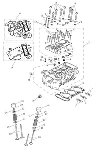 Triumph Tiger Explorer and Trophy 1215 Models Head Gasket Kit - T3990017
