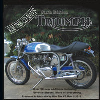 Triumph Shop Manual / Parts Book DVD Sixth Edition