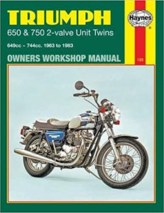 Haynes Manual for Triumph 650 & 750 2-Valve Unit Twins - CS-1853