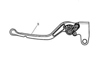 Triumph Tiger Sport and Tiger 800 Models Clutch Lever Assy, Adjustable - A9630173