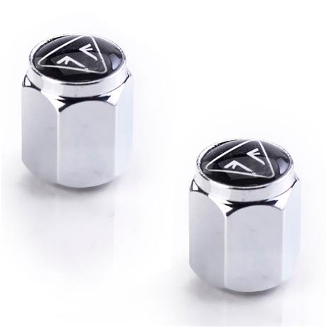 Triumph Modern Classics and Adventure Models Resin Logo Chrome Valve Caps - A2009007