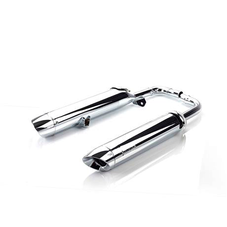 Triumph Bonneville Bobber and Bonneville Speedmaster Silencer Pair, Chrome - A9600712