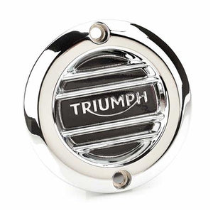 Triumph Modern Classics Ribbed Chrome Clutch Cover - A9610251