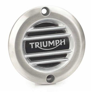 Triumph Modern Classics Brushed Ribbed Clutch Cover - A9610252