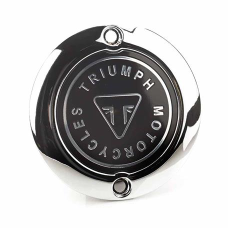 Triumph Modern Classics Chrome Badge Clutch Cover - A9610255