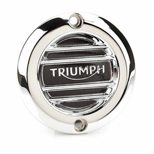 Triumph Modern Classics Ribbed Chrome Inspection Cover - A9610259