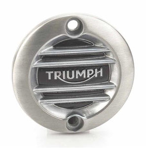 Triumph Modern Classics Ribbed Inspection Cover, Brushed - A9610260