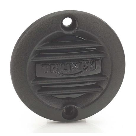 Triumph Modern Classics Ribbed Inspection Cover, Black - A9610261