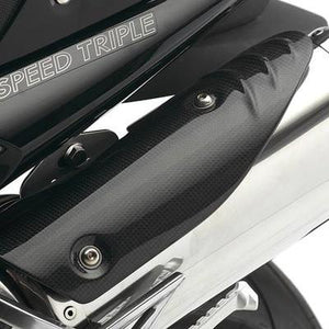 Triumph Speed Triple Carbon Fibre Exhaust Heat Shields - A9728017
