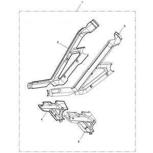 Triumph Tiger 800 models Frame Protector Kit - A9780082