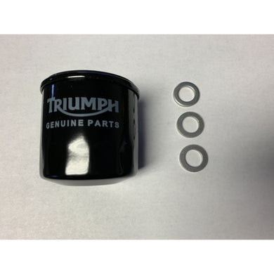 Triumph Oil Filter T1218001 plus Three T3558989 Crush Washers
