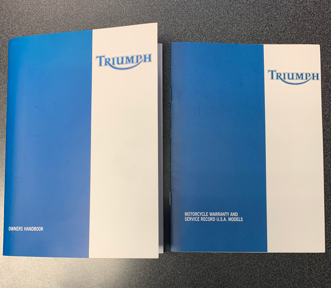 Triumph TT600 and Speed Four Motorcycle Handbook & Service Record Book