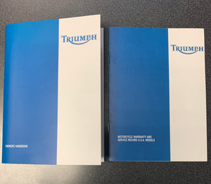 Triumph Daytona 955i & Speed Triple Owners Handbook & Warranty and Service book