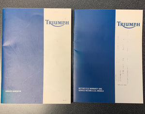 Triumph TT600 Owners Handbook & Warranty and Service Record book