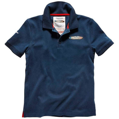 Men's Triumph Speed Record Polo Shirt, Navy Blue - MPOA14426