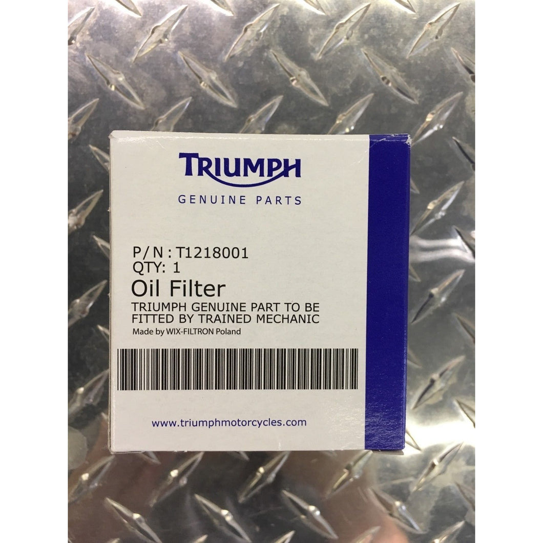 Spin on Genuine Triumph Oil Filter - T1218001