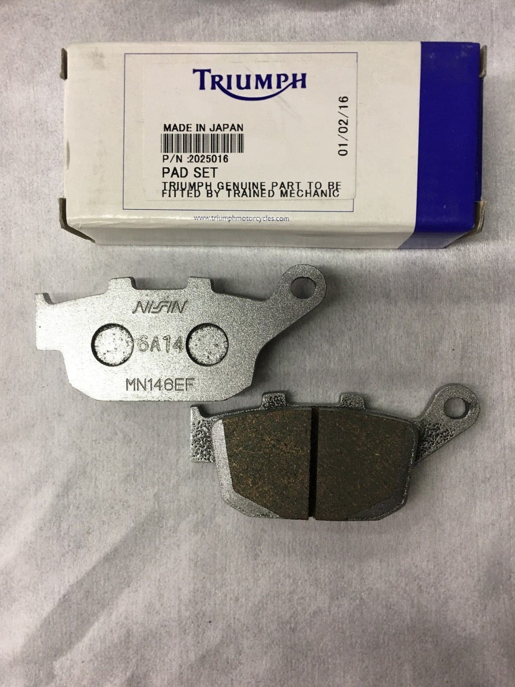 Triumph OEM Rear Brake Pads - T2025016
