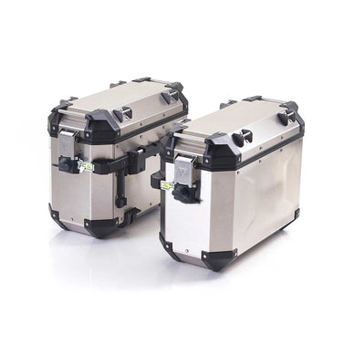 Triumph Tiger 900 Models Expedition Panniers Aluminum Kit, Silver - A9500880