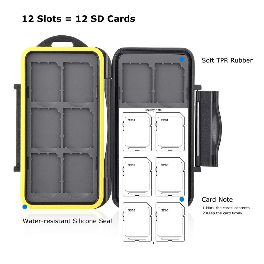 Memory Card Carrying Case Holder for SD SDHC SDXC