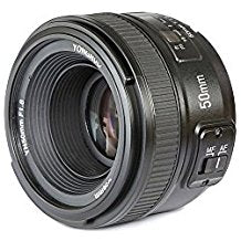 50mm Lens for Nikon. YONGNUO F1.8N Standard Prime Lens Large Aperture Auto Manual Focus AF MF