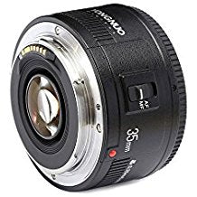35mm Lens for Canon. YONGNUO F2 Lens 1:2 AF / MF Wide-Angle Fixed/Prime Auto Focus Lens EF Mount EOS