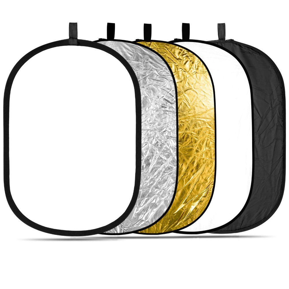 5-in-1 Oval 80X120cm Professional Collapsible Multi-Disc Light Reflector