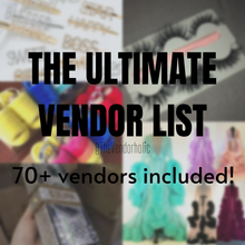 Load image into Gallery viewer, THE ULTIMATE VENDORS LIST