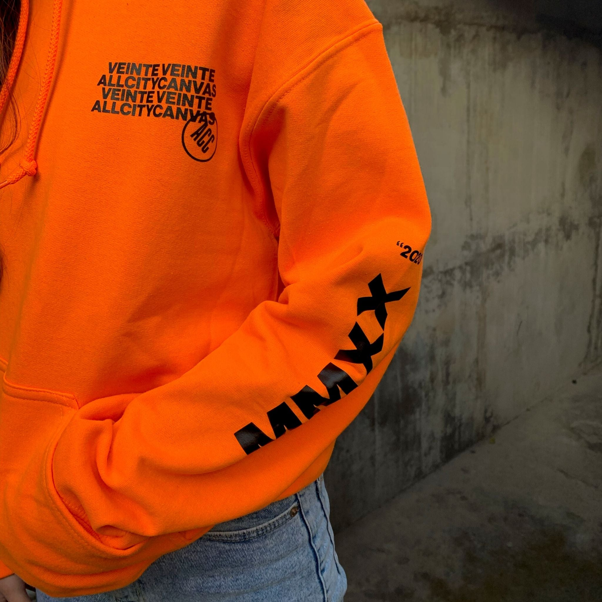 MMXX Sweatshirt - Neon Orange