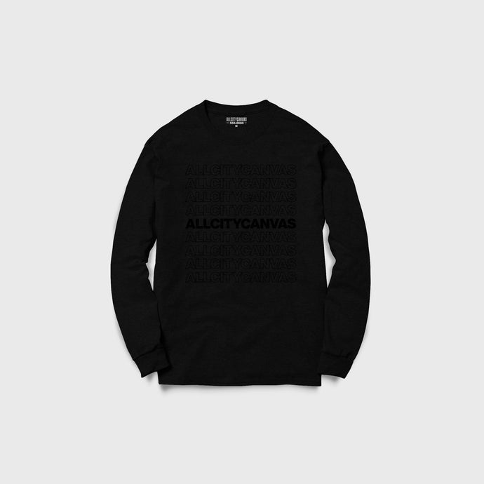 Thank You Sweatshirt - Black on Black