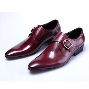 2019 Newest Men's Leather Shoes Man Flat Classic Men Dress Shoes Leather Italian Formal Oxford Plus Size 38-48