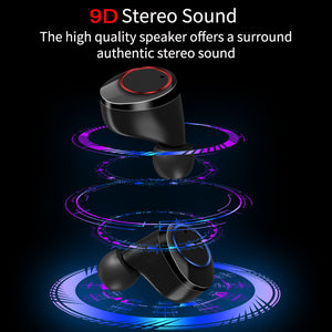 TWS Wireless Earphone Bluetooth 5.0 Earphones Power Display WATERPROOF