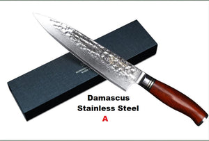 Japanese Damascus steel chef knife sets with dalbergia wood handle Japanese VG10 knife best cooking knives set