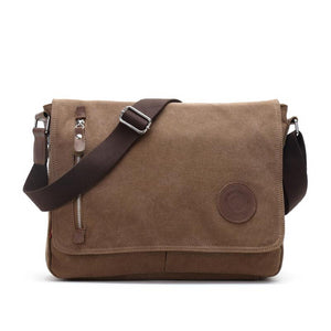 Augur 2018 Canvas Leather Crossbody Bag Men Military Army Vintage Messenger Bags Shoulder Bag Casual Travel school Bags