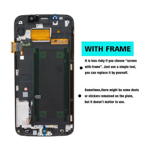 ORIGINAL 5.1'' Replacement Super AMOLED for SAMSUNG Galaxy s6 edge LCD + Frame G925 G925F G925I Display Touch Screen Digitizer