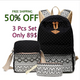 Canvas School bags 3 pcs Set For Girls Schoolbags High Quality Feminine Book Bag