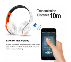 Wireless and Wired Bluetooth Earphone internal FM, Micro SD Card Support
