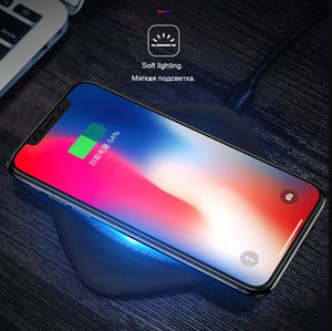 Smart Qi Wireless Luxury Fast Wireless Charger for iPhone X XS Max XR Samsung Galaxy S9 S8  xiaomi and all Wireless charg support Devices