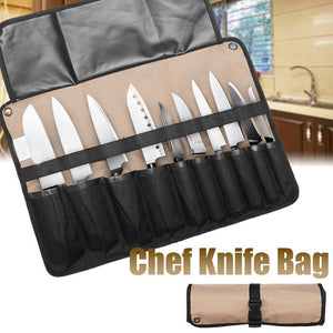 10 Pockets Chef Knife Bag Kitchen Cooking Portable Durable Storage Case