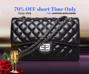 Women Shoulder Bags Party Crossbody Chain Plaid Handbag