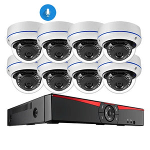 8CH 4MP POE NVR Security Camera System Kit H.265 Audio Record IP Camera IR Dome Outdoor Waterproof CCTV Surveillance Set